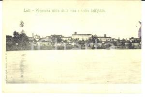 1900 ca LODI Panorama visto dalla riva sinistra dell'ADDA *Cartolina FP VG