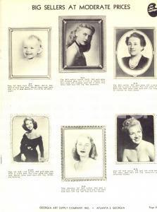 1950 ca ATLANTA (USA) GEORGIA ART - Catalogue metal photo frames ILLUSTRATED