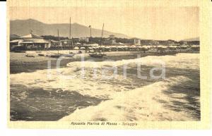 1930 ca MARINA DI CARRARA Veduta della spiaggia *Cartolina ANIMATA FP NV