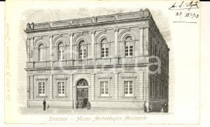 1903 SIRACUSA Museo Archeologico Nazionale *Cartolina postale FP VG