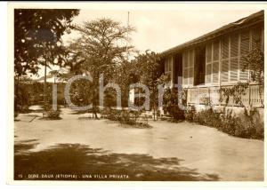 1937 DIRE DAUA (ETIOPIA) AOI Una villa privata *Cartolina postale FG VG