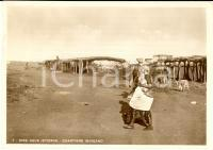 1937 DIRE DAUA (ETIOPIA) AOI Quartiere indigeno *Cartolina postale FG VG