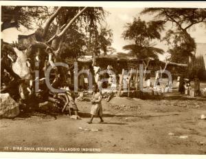 1937 DIRE DAUA (ETIOPIA) AOI Villaggio indigeno *Cartolina ANIMATA FG VG