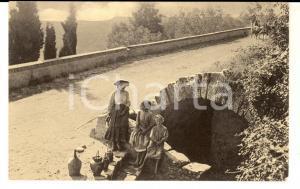1920 ca VOLTERRA (PI) Fonte di MANDRINGA *Cartolina ANIMATA FP NV