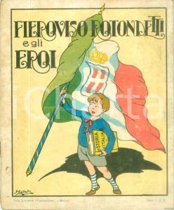 1928 MONZA Fieroviso ROTONDETTI e gli Eroi Album illustrato da colorare