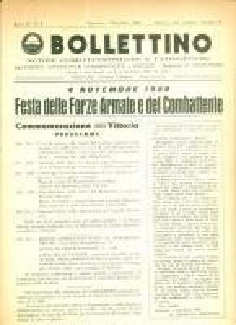 1959 BOLLETTINO NOTIZIE COMBATTENTISTICHE Festa Forze Armate e Combattente