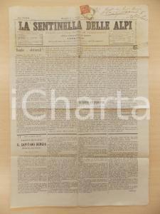 1895 LA SENTINELLA DELLE ALPI Eco dolorosa delle prigioni russe *Giornale