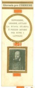 1926 Giornata PRO CORRIERE Segnalibro pubblicitario con nastrino