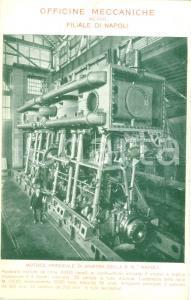 1910 NAPOLI Officine Meccaniche Motore di sinistra Regia Nave NAPOLI *Cartolina