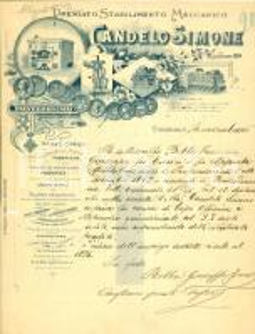 1916 GENOVA PONTEDECIMO Stabilimento Meccanico Simone CANDELO Francesco BOBBA
