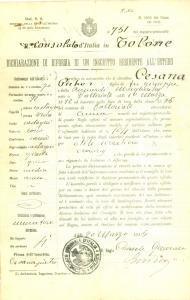 1915 TOLONE Muratore Pietro CESANA di VALLORIATE inabile al servizio militare