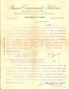 1932 PARMA Banca Commerciale Italiana si adegua a politica finanziaria fascista
