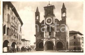1942 PORDENONE Pordenonesi davanti al Municipio *Cartolina FP VG