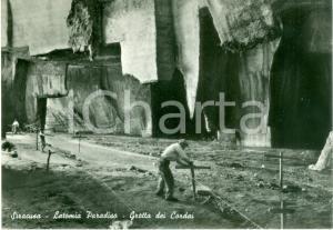 1970 ca SIRACUSA Grotta dei Cordai alla LATOMIA PARADISO *Cartolina FG NV
