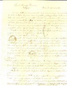 1875 BARI Saverio DAMIANI di Franco riceve balle di cattiva qualità *Lettera