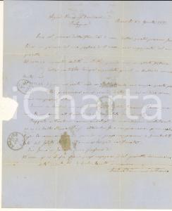 1871 BARI Saverio DAMIANI ordina balle di stoppa a Vincenzo DAMIANI di Bologna