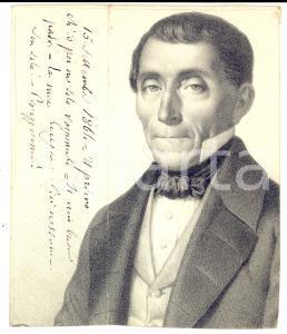 1865 TORINO Note Giovanni Battista CASSINIS sul ritratto del padre *AUTOGRAFO