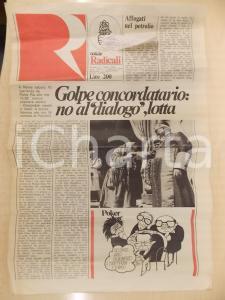 1979 NOTIZIE RADICALI Un nuovo colpo di mano di ANDREOTTI sul Concordato?