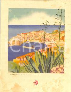 1939 ITALIA Motonave VIRGILIO Menù di bordo *ILLUSTRATO DANNEGGIATO