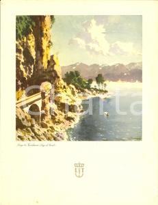 1940 LLOYD TRIESTINO Nave URANIA Menù di bordo *ILLUSTRATO con Lago di GARDA