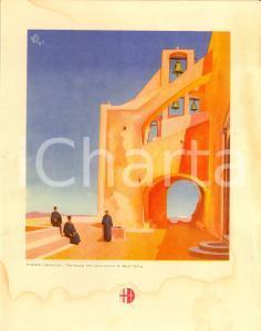 1939 ITALIA Motonave VIRGILIO Menù di bordo *Convento di Sant'Elia a THERA