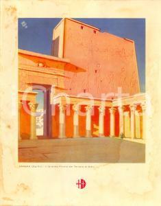 1939 ITALIA Motonave VIRGILIO Menù di bordo *Tempio di Edfu a KARNAK DANNEGGIATO