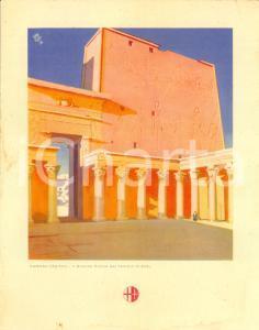 1939 ITALIA Motonave VIRGILIO Menù di bordo *Tempio di Edfu a KARNAK