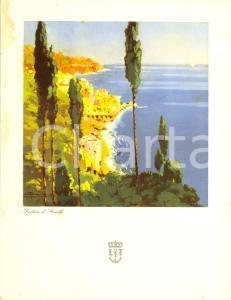 1940 LLOYD TRIESTINO Nave URANIA Menù di bordo *Dintorni di AMALFI