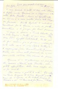1965 SAN MARCO / CASTELLABATE (SA) Lettera del nobile Francesco FAVILLA MERIGLIA