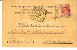1907 ROMA Paride MARINCOLA CATTANEO redattore della