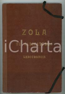 1898 PARIS ZOLA - 32 caricatures de LEBOURGEOIS *Ed. BERNARD RARE