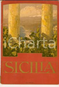 1920 ca FERROVIE DELLO STATO Guida illustrata della Sicilia Vol. 2 TOURING CLUB
