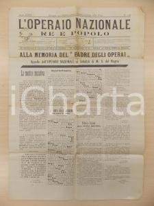 1900 L'OPERAIO NAZIONALE Appello sodalizi operai in memoria di Umberto I n° 756