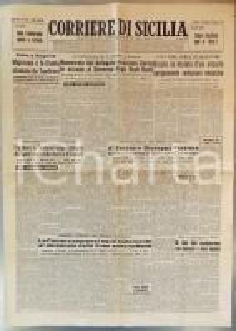1960 CORRIERE DI SICILIA Calda estate politica - MORO e TAMBRONI a colloquio