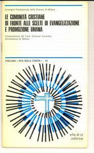 1978 MILANO Le comunità cristiane di fronte alle scelte di evangelizzazione