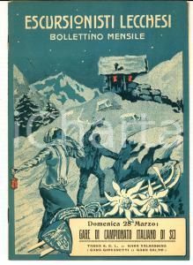 1915 ESCURSIONISTI LECCHESI Bollettino - Campionato Italiano di SCI *Anno I n°3