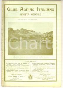 1916 CLUB ALPINO ITALIANO Ascensioni cresta SEGANTINI *Rivista anno XXXV n°2