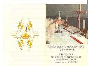 1959 CATANIA Preghiera PADRE PIO per il XVI Congresso Eucaristico Nazionale