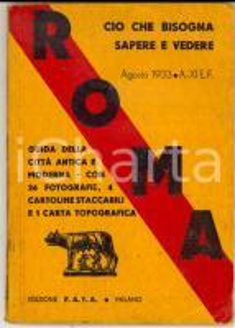 1933 ROMA Guida della città con 36 foto + 4 cartoline + mappa *Ed. FATA TURISMO