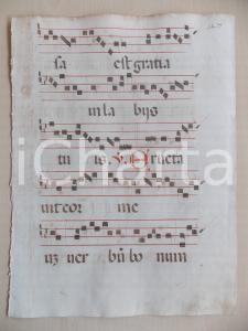 1600 ca ANTIFONARIO ROMANO Pagina manoscritta canti rosso nero Salmo ERUCTAVIT