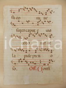 1600 ca ANTIFONARIO ROMANO Pagina manoscritta rosso nero Salmo CONTINEBUNTUR