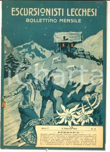 1915 ESCURSIONISTI LECCHESI Bollettino - Gita sociale Sabato Grasso *Anno I n°2