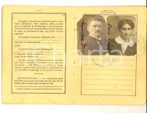 1921 TRIESTE Passaporto per l'estero birraio Giuseppe DOLCIS DANNEGGIATO