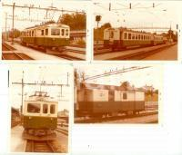 1975 ca SVIZZERA Ferrovie BIERE-APPLES-MORGES Locomotiva 4 Lotto 4 fotografie