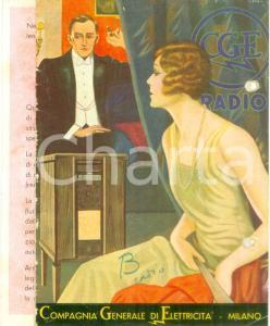 1934 MILANO Radio CGE Compagnia Generale Elettricità *Opuscolo ILLUSTRATO