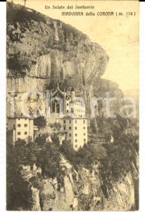 1911 SPIAZZI Santuario MADONNA DELLA CORONA *Cartolina a Bianca PASETTI VILLANI