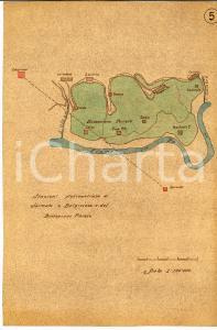 1930 ca SARMATO - BELGIOIOSO (PV) Stazioni pluviometriche *Mappa 22x31