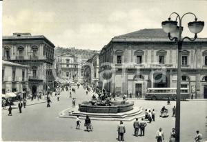 1958 CALTANISSETTA Corso UMBERTO I fontana TRIPISCIANO *Cartolina FG VG