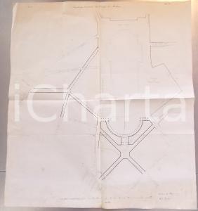 1857 MILANO Architetto A. F. ZUCCARI Progetto piazza Duomo *Planimetria a stampa