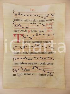1600 ca ANTIFONARIO ROMANO Pergamena manoscritta rosso nero Salmo TIMETE